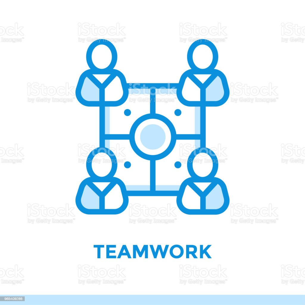 Linear teamwork icon for new business. Pictogram in outline style. Vector modern flat icon suitable for print, presentation and website royalty-free linear teamwork icon for new business pictogram in outline style vector modern flat icon suitable for print presentation and website stock illustration - download image now