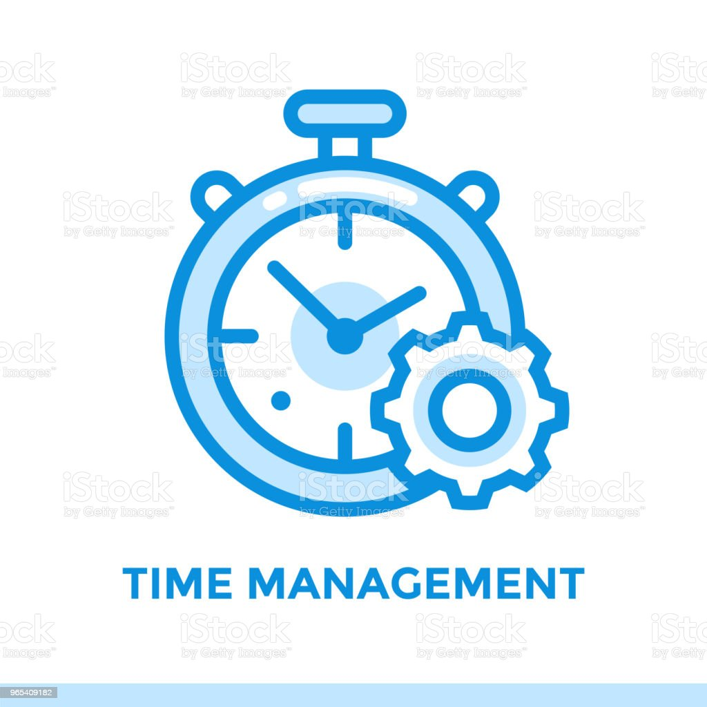 Linear time management icon for new business. Pictogram in outline style. Vector modern flat icon suitable for print, presentation and website royalty-free linear time management icon for new business pictogram in outline style vector modern flat icon suitable for print presentation and website stock vector art & more images of business