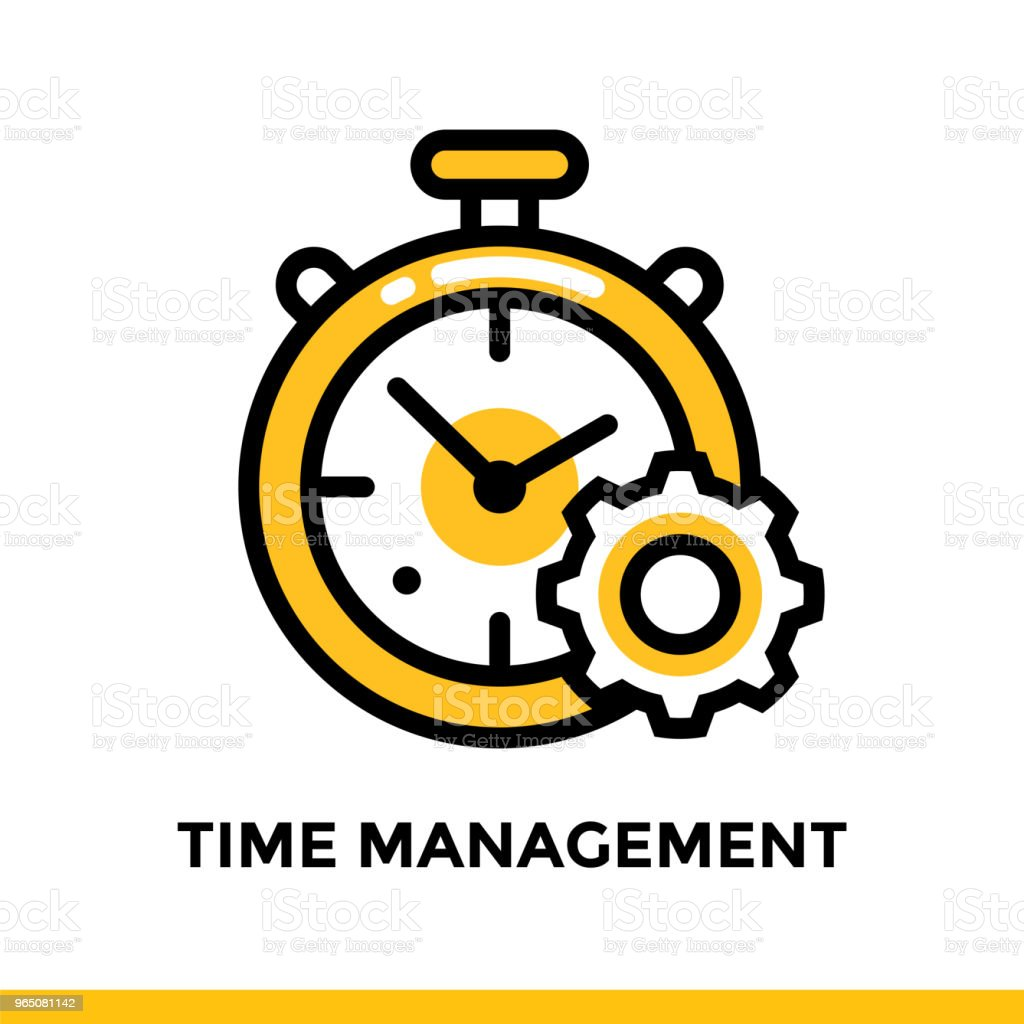Linear time management icon for startup business. Pictogram in outline style. Vector flat line icon suitable for mobile apps, websites and presentation royalty-free linear time management icon for startup business pictogram in outline style vector flat line icon suitable for mobile apps websites and presentation stock vector art & more images of business