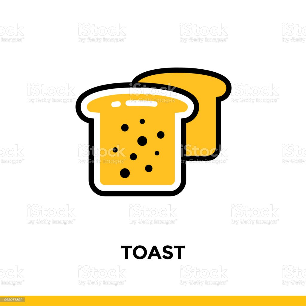 Linear TOAST icon. Vector elements suitable for website and presentation royalty-free linear toast icon vector elements suitable for website and presentation stock vector art & more images of bakery
