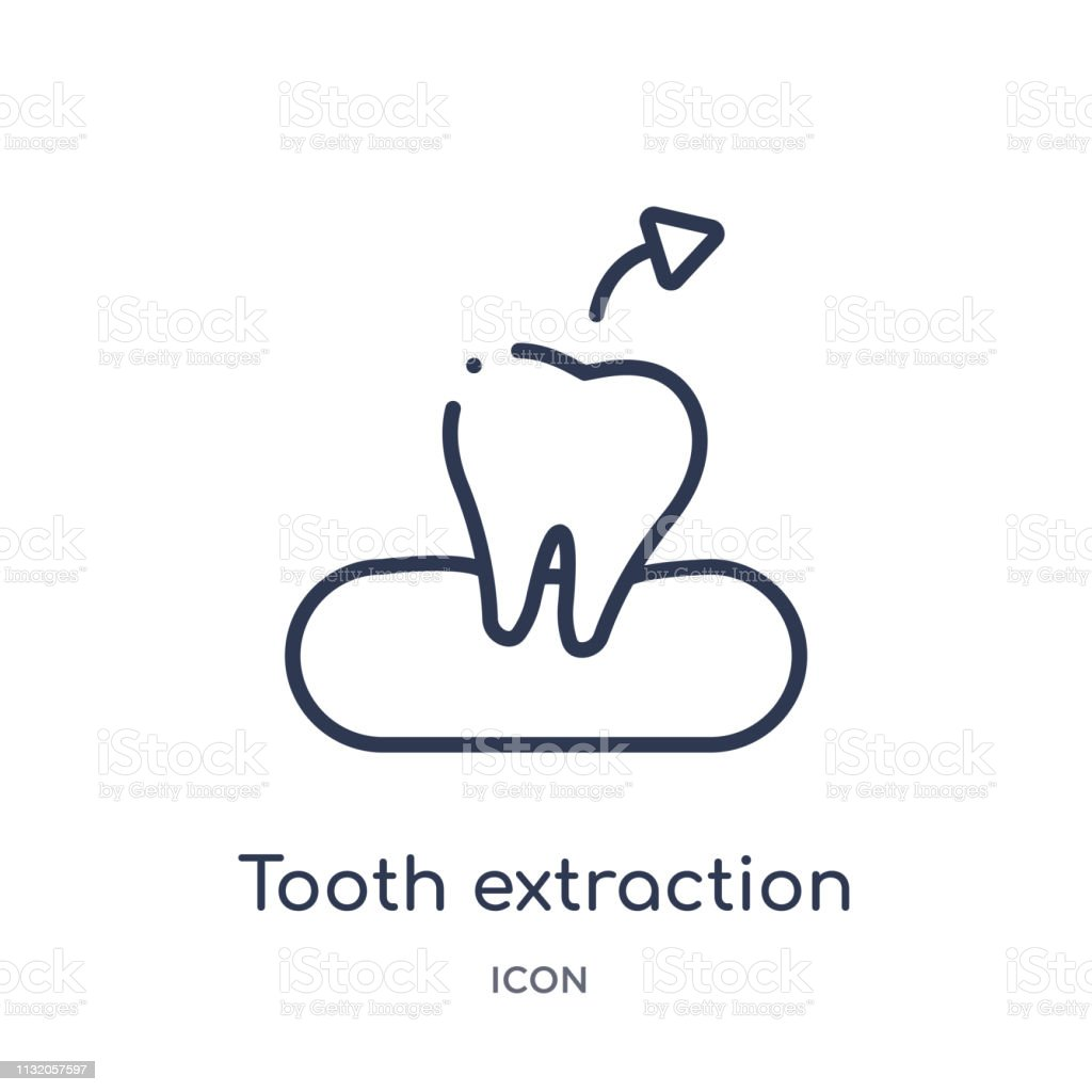 Linear Tooth Extraction Icon From Dentist Outline Collection
