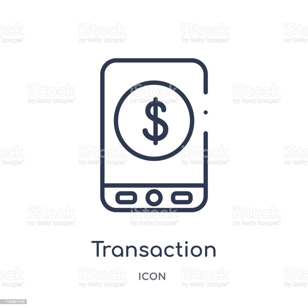 Linear transaction icon from Artifical intelligence outline collection. Thin line transaction vector isolated on white background. transaction trendy illustration vector art illustration