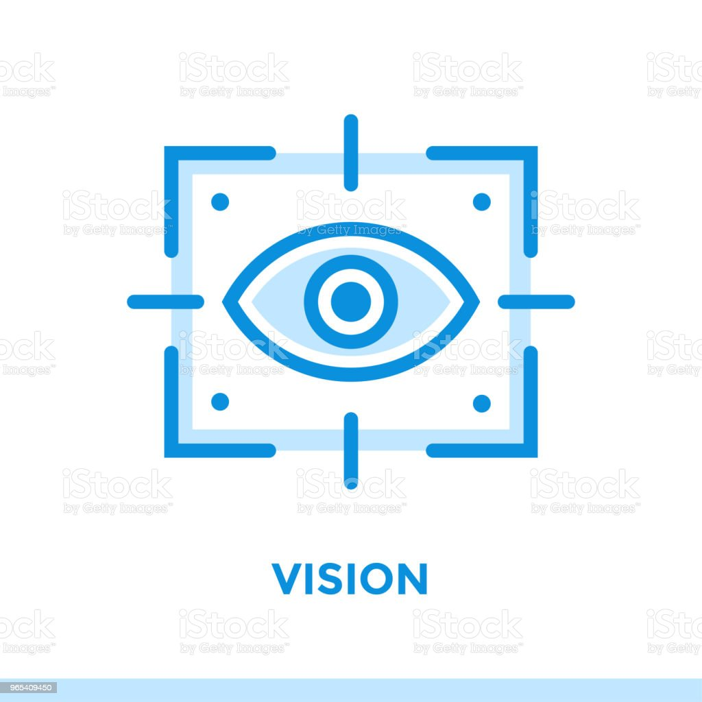 Linear vision icon for new business. Pictogram in outline style. Vector modern flat icon suitable for print, presentation and website royalty-free linear vision icon for new business pictogram in outline style vector modern flat icon suitable for print presentation and website stock vector art & more images of business