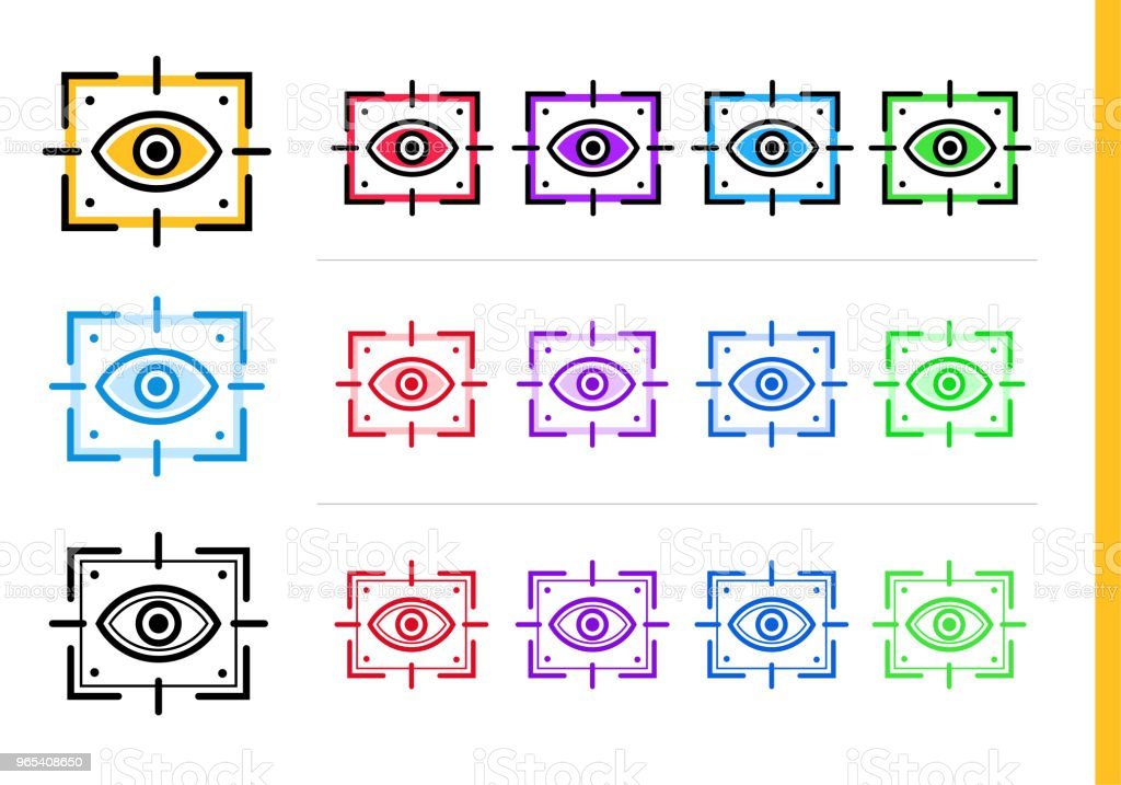 Linear vision icon for startup business in different colors. Vector elements suitable for website, mobile application and presentation royalty-free linear vision icon for startup business in different colors vector elements suitable for website mobile application and presentation stock vector art & more images of business