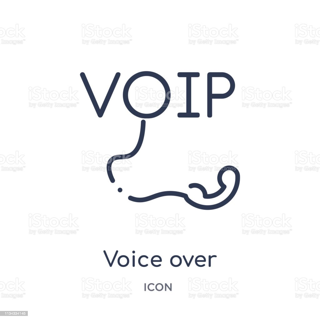 Linear Voice Over Internet Protocol Icon From Internet