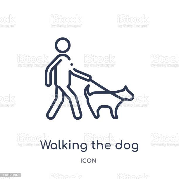 Linear walking the dog icon from behavior outline collection thin vector id1131203071?b=1&k=6&m=1131203071&s=612x612&h=hnksnvlr619j9ugvsh0dftkizdm7fnasgvarmrx1y0s=