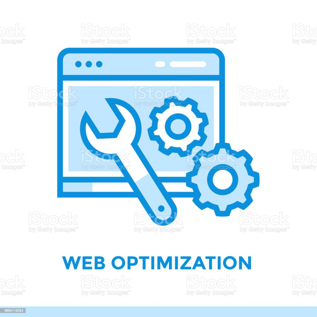 Linear web optimization icon for startup business. Pictogram in outline style. Vector flat line icon suitable for mobile apps, websites and presentation royalty-free linear web optimization icon for startup business pictogram in outline style vector flat line icon suitable for mobile apps websites and presentation stock vector art & more images of business