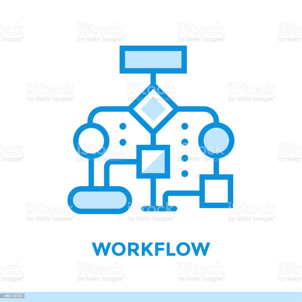 Linear workflow icon for new business. Pictogram in outline style. Vector modern flat icon suitable for print, presentation and website royalty-free linear workflow icon for new business pictogram in outline style vector modern flat icon suitable for print presentation and website stock vector art & more images of business