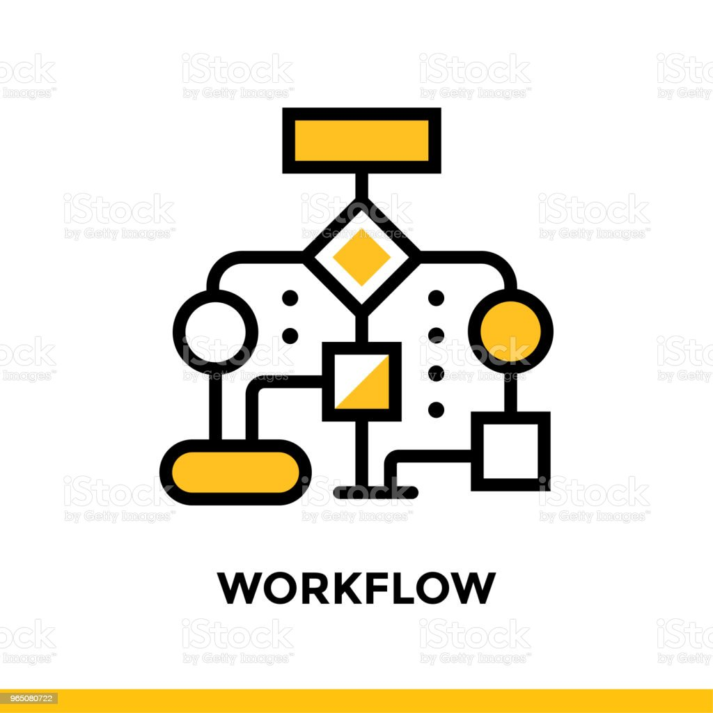 Linear workflow icon for startup business. Pictogram in outline style. Vector flat line icon suitable for mobile apps, websites and presentation royalty-free linear workflow icon for startup business pictogram in outline style vector flat line icon suitable for mobile apps websites and presentation stock vector art & more images of business