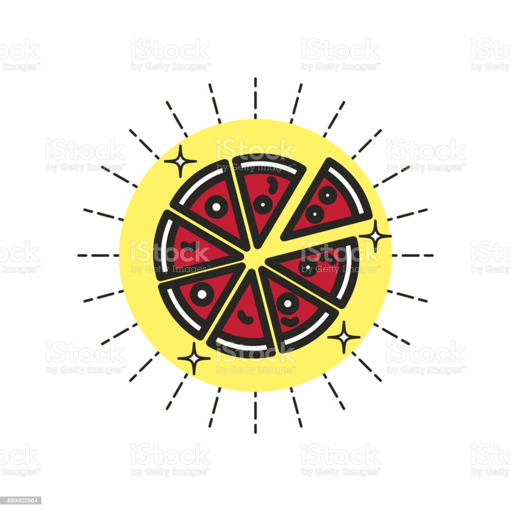 Linear_Icon_Pizza vector art illustration