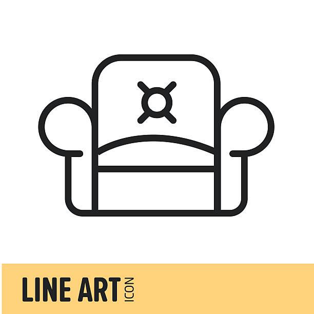 linearticon - stuhllehnen stock-grafiken, -clipart, -cartoons und -symbole