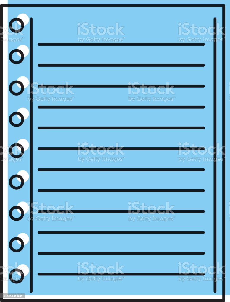 lined paper note page blank school stock vector art more images of