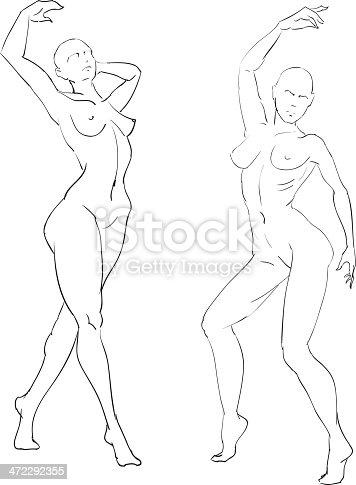 istock Line-drawing woman 472292355