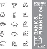 Linelinge Bank and Finance 04 Thin line icon sets