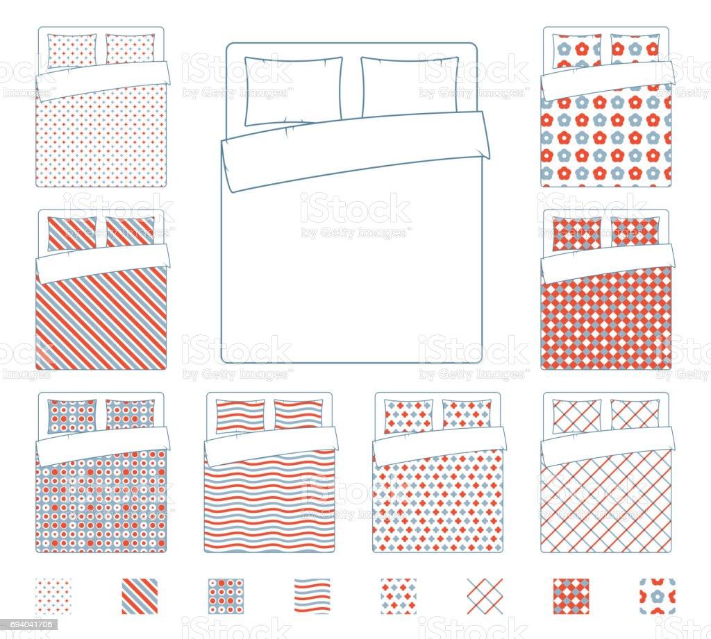 bettwsche und bettwaren bettdecke vektor textile muster vorlage lizenzfreies bettwsche und bettwaren bettdecke vektor textile - Bettwasche Muster
