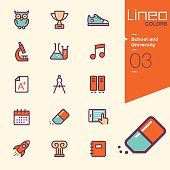 Lineo Colors - School and University icons