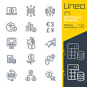 istock Lineo Editable Stroke - Banking and Finance line icons 1188595713