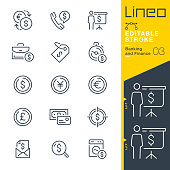 istock Lineo Editable Stroke - Banking and Finance line icons 1189107325