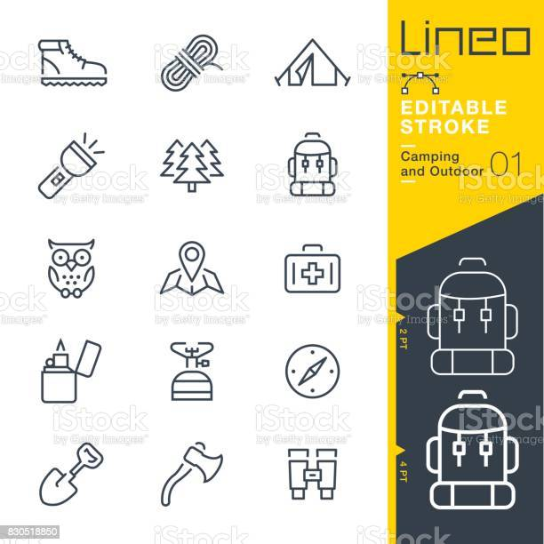 Lineo editable stroke camping and outdoor outline icons vector id830518850?b=1&k=6&m=830518850&s=612x612&h=wobw41x3wczkgtx8xi44dahwydubjjaxie3 fhfkl34=