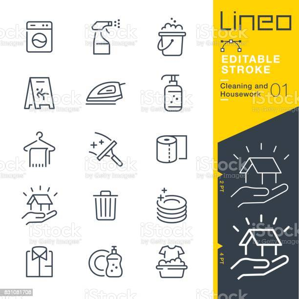 Lineo editable stroke cleaning and housework line icons vector id831081708?b=1&k=6&m=831081708&s=612x612&h=1xmb feoqqohn136wxbtxkibmy4t6kn3o7cmd758kge=