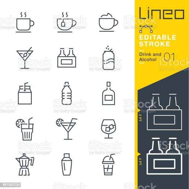 Lineo editable stroke drink and alcohol line icons vector id831352234?b=1&k=6&m=831352234&s=612x612&h=kggij0mykc tosejdwpurwb0qqp41ee baoxlb6rm1o=