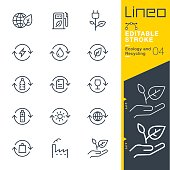istock Lineo Editable Stroke - Ecology and Recycling line icons 831362880