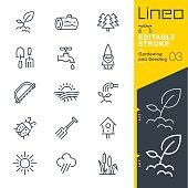 istock Lineo Editable Stroke - Gardening and Seeding line icons 832041898