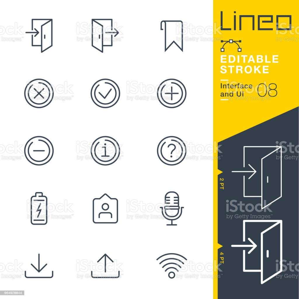 Lineo Editable Stroke - Interface and UI line icons vector art illustration