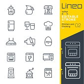 istock Lineo Editable Stroke - Kitchen and Cooking line icons 832192572