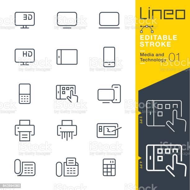 Lineo editable stroke media and technology line icons vector id842894080?b=1&k=6&m=842894080&s=612x612&h=8xbnarhfhb8iad8zidq3quk6x2po0xs2 9kdnuqfl9i=
