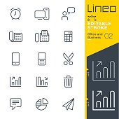 Lineo Editable Stroke - Office and Business outline icons