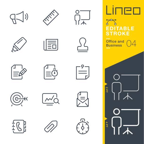 lineo editierbare schlaganfall - büro- und skizzieren symbole - megaphone stock-grafiken, -clipart, -cartoons und -symbole