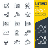 istock Lineo Editable Stroke - Real Estate and Homes line icons. 951111156