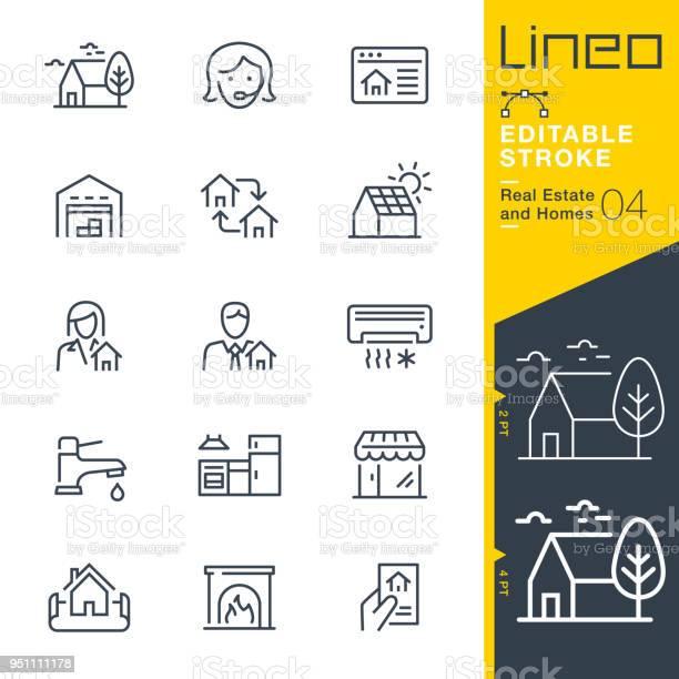 Lineo editable stroke real estate and homes line icons vector id951111178?b=1&k=6&m=951111178&s=612x612&h=n8fjwqz534wtgnidub 2qdmnpb1bbqfr wphazo4oqa=