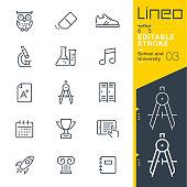 istock Lineo Editable Stroke - School and University line icons 951111432