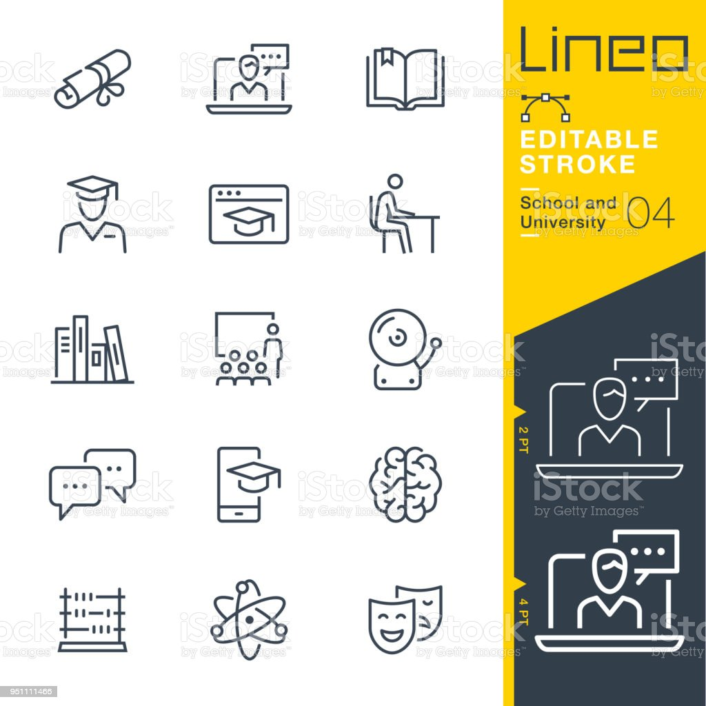 Lineo Editable Stroke - School and University line icons lineo editable stroke school and university line icons - immagini vettoriali stock e altre immagini di abaco royalty-free