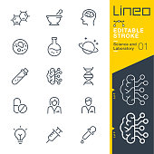 istock Lineo Editable Stroke - Science and Laboratory line icons 949862018
