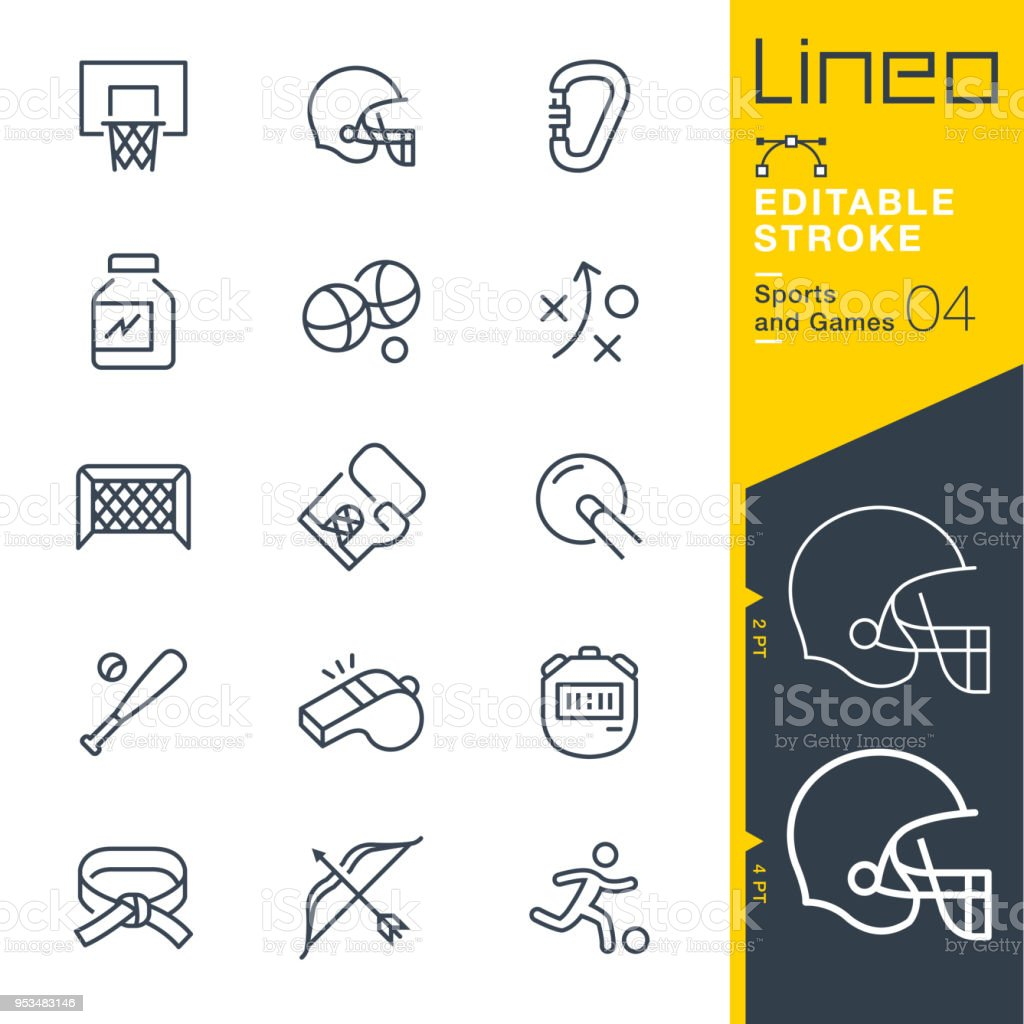 Lineo Editable Stroke - Sports and Games line icons royalty-free lineo editable stroke sports and games line icons stock illustration - download image now