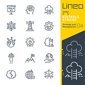 istock Lineo Editable Stroke - Strategy and Management outline icons 939220272