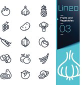 Lineo - Fruits and Vegetables outline icons