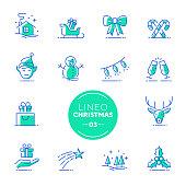 istock Lineo Lime - Christmas line icons (editable stroke) 1071343400