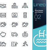 Lineo - Real Estate and Homes outline icons