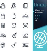 Lineo - School and University outline icons