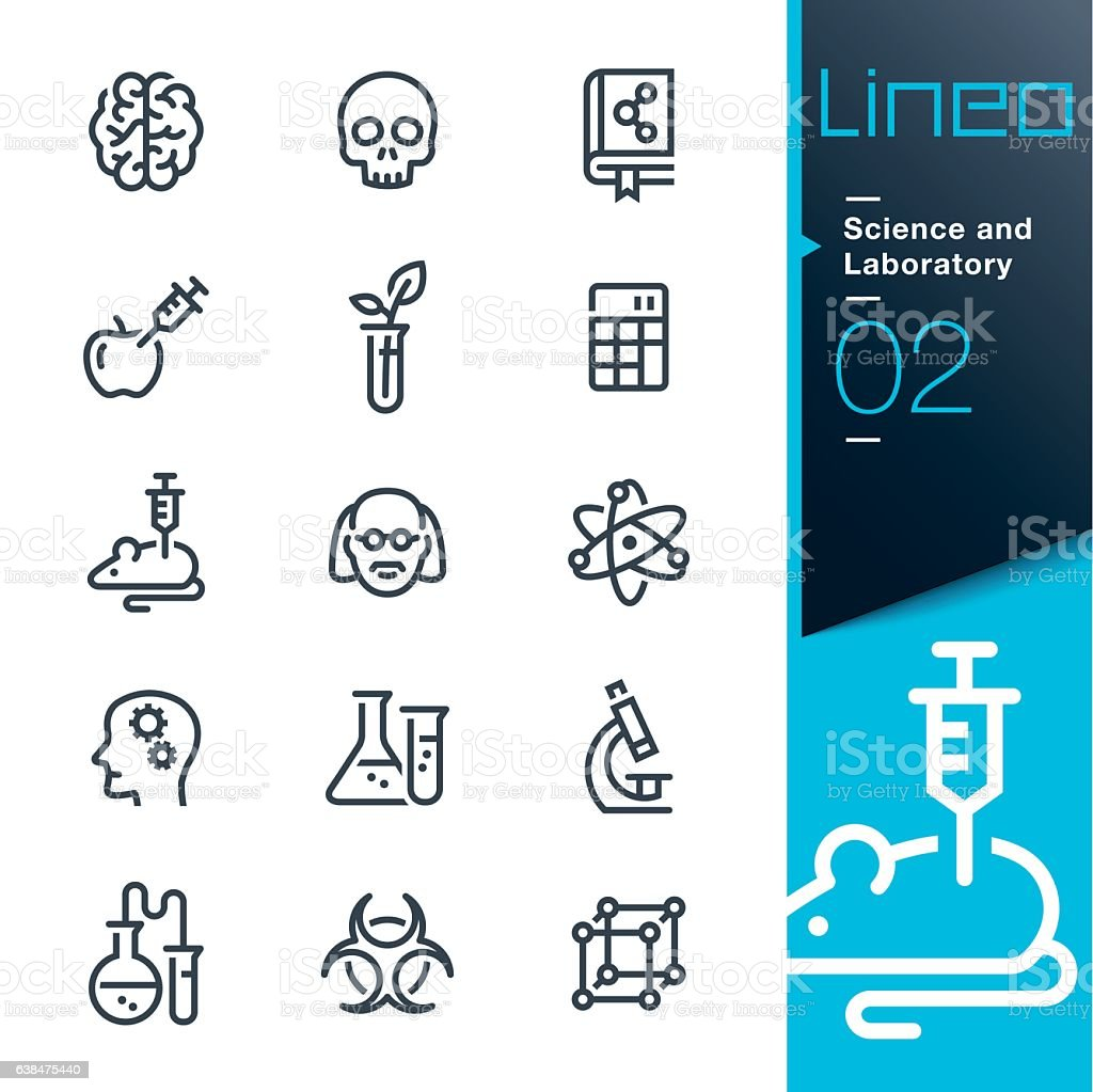 Lineo - Science and Laboratory line icons vector art illustration