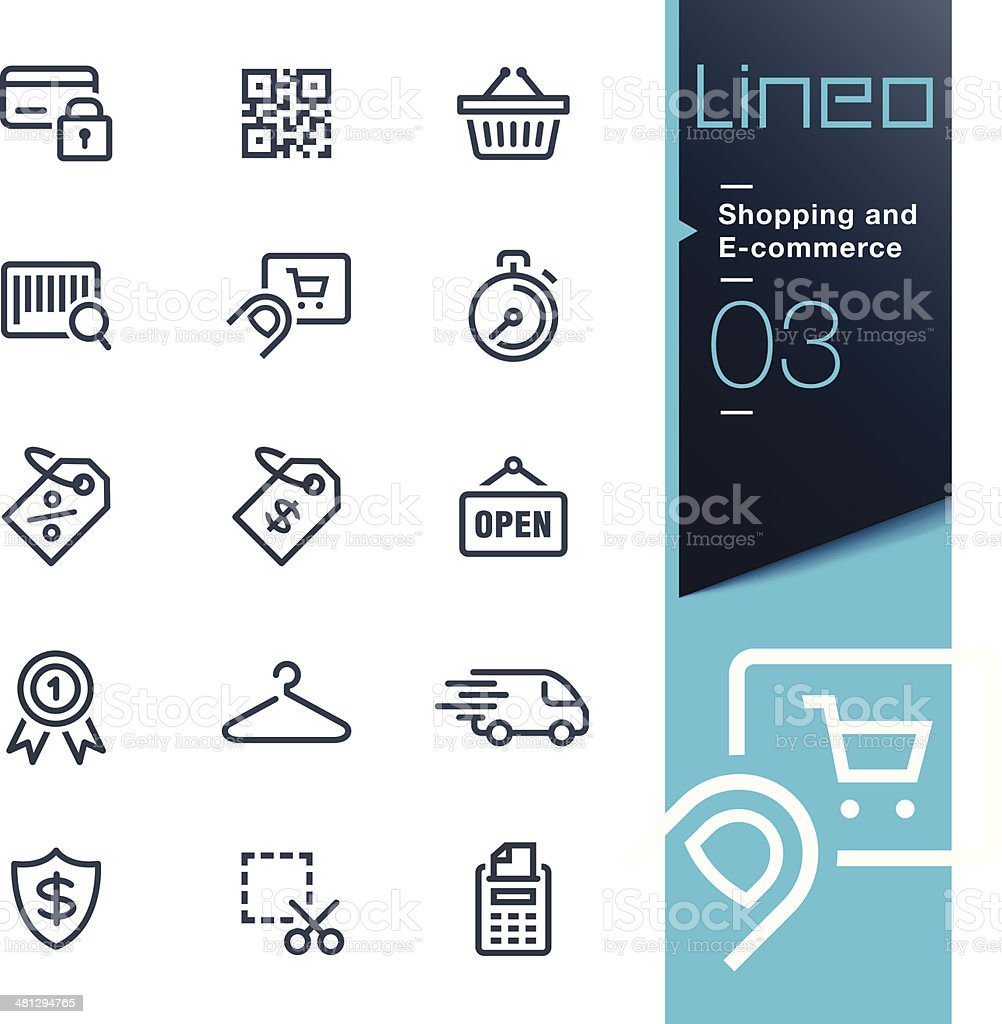 Lineo - Shopping and E-commerce outline icons vector art illustration