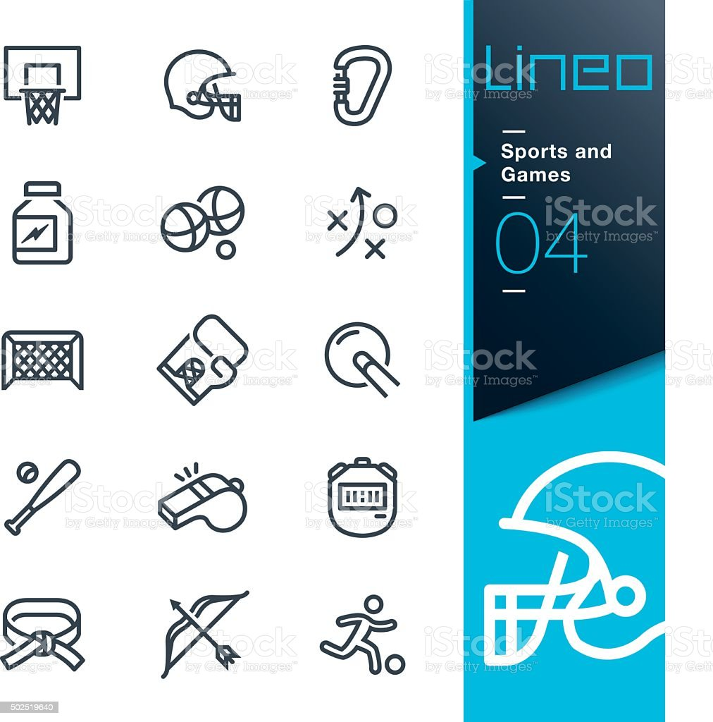 Lineo - Sports and Games line icons royalty-free lineo sports and games line icons stock illustration - download image now