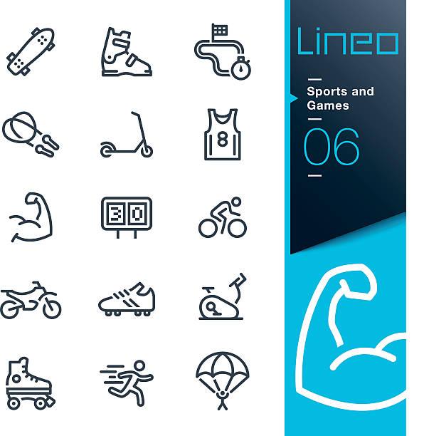 illustrations, cliparts, dessins animés et icônes de lineo-sports et jeux d'icônes de ligne - moto sport