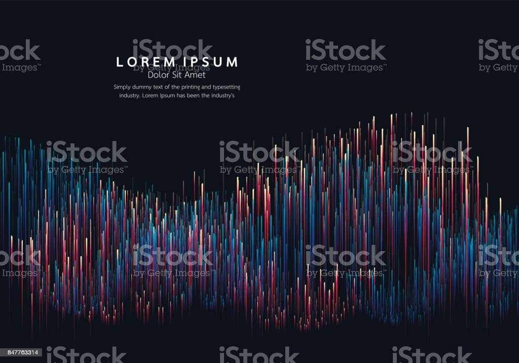 Lines composed of glowing backgrounds, abstract vector background vector art illustration