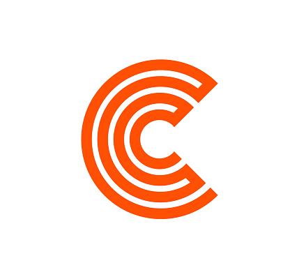 C Lines Geometric Vector Logo