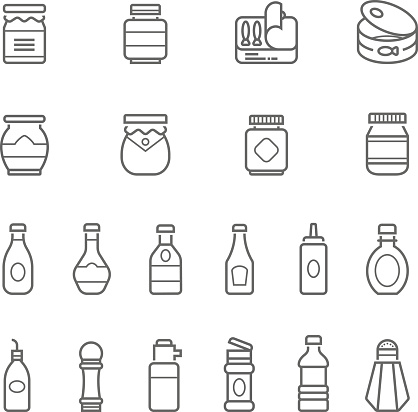 Lines icon set - ketchup